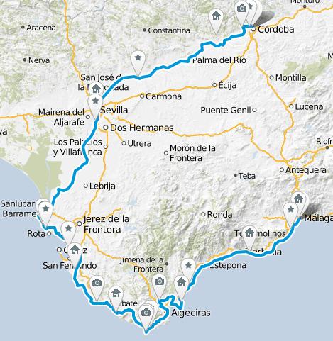Andalusien Fahrradtour