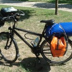 Bild: Vollbepacktes Fahrrad